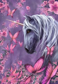 In my opinion, there are only few good unicorn illustrations. People seem to think little girls don't see the weakness in anatomy and face of the mystic creatures. Unicorn Painting, Unicorn Drawing, Unicorn Art, Fantasy Kunst, Fantasy Art, Unicornios Wallpaper, Unicorn Pictures, Pictures Of Unicorns, Fantasy Love