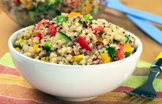Healthy #Quinoa with #tofu and fresh vegetables. http://www.coachingwill.com/recipes/lunch/summer-quinoa-salad#.UkU3CoamZzV