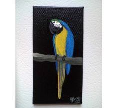 Handpainted Black Parrot Magnets from Birdbrain Gifts $9.95