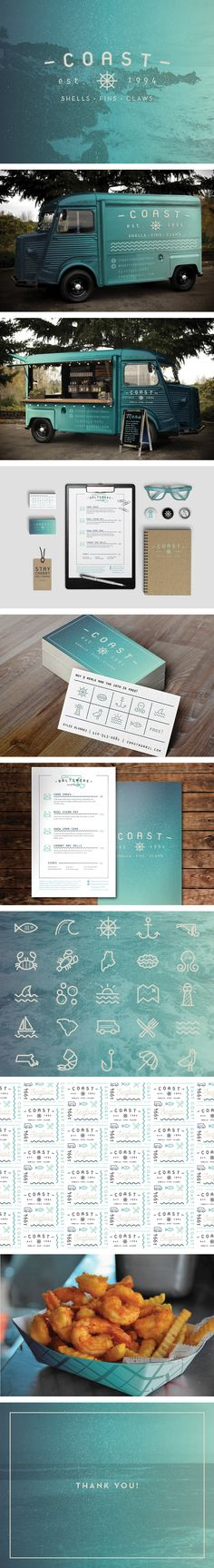 Coast Food Truck via Behance