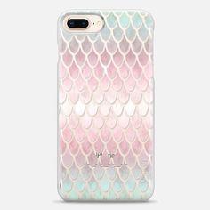 Casetify iPhone 8 Plus Snap Case - Mermaid Scales in pastels by Art Love Passion #mermaid #mermaidcase #casetify #artlovepassion #pastel #girlboss