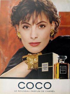 Inès de la Fressange for Chanel | La Chanelphile #lachanelphile #chanel #inesdelafressange #model #fashion #supermodel #vintage #perfume #coco #vintagechanel www.lachanelphile.com