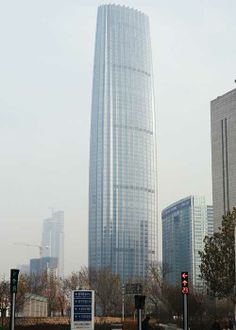 Tianjin Global Financial Center, Tianjin, China. Built in 2011.