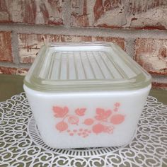 Vintage Pyrex - Pink Gooseberry - 502 - Refrigerator Dish / Casserole - With Lid - EUC  on Etsy, $19.95