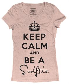 I so want this shirt! Swiftie fans know who the shirt is about! =]