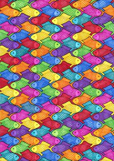 tessellating fish pattern - Google Search
