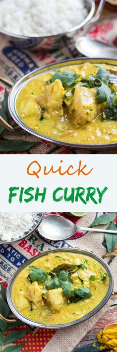 instead of curry leaves, you can use bay leaves. This Quick Fish Curry is simple to rustle up for dinner after a busy day.  The curry sauce can be made in advance so all you have to do is quickly poach the fish in the curry sauce for a quick dinner.