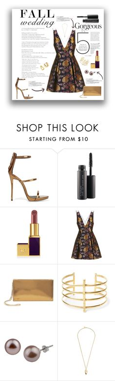 """Falling for You"" by spnfancurl ❤ liked on Polyvore featuring Giuseppe Zanotti, MAC Cosmetics, Tom Ford, Topshop, Jimmy Choo, BauXo, Tevolio, Pembe Club, BERRICLE and fallwedding"