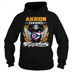 Akron, Ohio - Its Where My Story Begins - #girls #zip up hoodie. MORE INFO =>  https://www.fanprint.com/licenses/akron-zips?ref=5750
