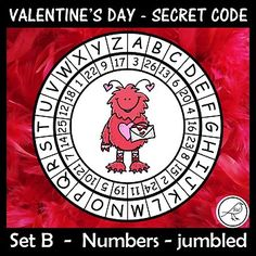 A super-fun activity for Valentine's Day. Make these secret code wheels and use them to write a secret message/card for someone special. Included: ♦ 15 templates (different pictures in each wheel). ♦ Joke - for your Coding For Kids, Secret Code, Teacher Notes, Message Card, Classroom Resources, Print Templates, Fun Activities, School Stuff, Valentines Day