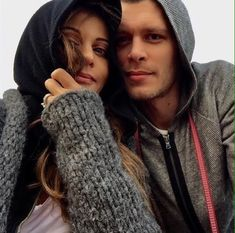 Joseph Morgan and Persia White on April 2017 in Los Angeles.