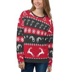(1) Unisex Xmas Audiology Sweatshirt | Think Audiology Unisex Fashion, Pocket Square, Aud, Fleece Fabric, Hand Sewing, Christmas Sweaters, Xmas, Sweatshirts, Cotton