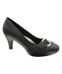 Look at this #zulilyfind! Black Helen Pump by Pierre Dumas #zulilyfinds