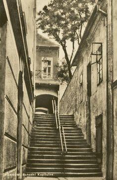 Ulica Kapitulna - lata 70-80 XX w.... I ♥ TARNOW Poland, Stairs, Stairway, Staircases, Ladders