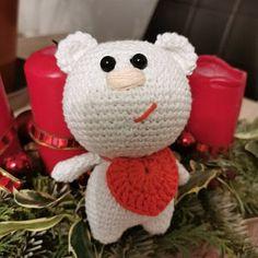 Brownie the Santa Bear pattern, crochet teddy bear pattern, amigurumi teddy bear pattern, crochet Christmas teddy bear pattern PDF Crochet Hippo, Crochet Bee, Crochet Teddy Bear Pattern, Crochet Butterfly, Crochet Toys, Crochet Patterns, Christmas Teddy Bear, Easy, Crochet Basics