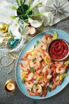 Our Best Recipes For Celebrating Christmas In The South: Garlic Butter-Roasted Shrimp Cocktail