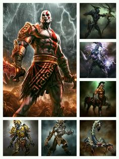 GOD OF WAR 3 Concept Art by •Andy Park