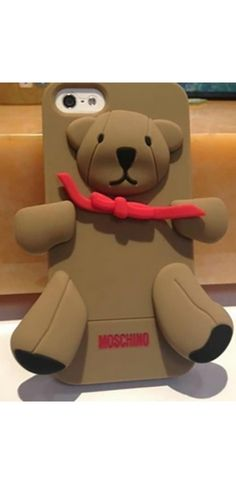 Brown Teddy Bear Silicone Phone Case Iphone Samsung Cover