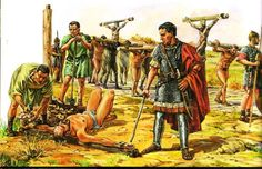 Crucifixion Of Jesus, Julius Caesar, Ancient Rome, Roman Empire, Fantasy Art, Military, War, History, Painting