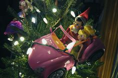 Elf on the Shelf 2010 (Fizzy): 12/10: Last night Fizzy had a little too much eggnog, so Tink drove him back from the North Pole. Nice parking job Tink!