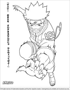 free Naruto Coloring Pages to print Enjoy Coloring Books Worth