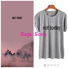 Not Today Funny Cool Printed Grey T shirt Music Life, Jhope, Jin, Cool Stuff, Stuff To Buy, India, T Shirts For Women, Inspired, Amazon
