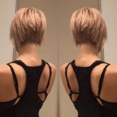 625 Mentions Likes, 10 Comments - Krissa Fowles (Kriss . - Top Trends Short Bobs Haircuts Look Sexy and Charming! Short Blonde, Blonde Hair, My Hairstyle, Cool Hairstyles, Short Hair Cuts For Women, Short Hair Styles, Choppy Hair, Short Bob Haircuts, Layered Haircuts