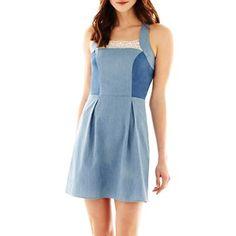 I Heart Ronson® Denim Halter Dress - easiest demin summer dress I've seen so far.  Want it