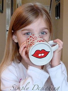 paint bottom of mug with different mouths/noses/mustache, and include hot chocolate mix