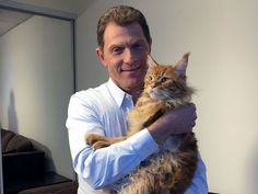"Nacho (Bobby Flay) : ""This is my son, Nacho Flay,"" Bobby says, introducing his 1-year-old Maine coon. ""He's big into shellfish and finfish."""