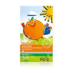 WellnessKids multivitamin és ásványi anyagok étrend-kiegészítő rágótabletta gyerekeknek