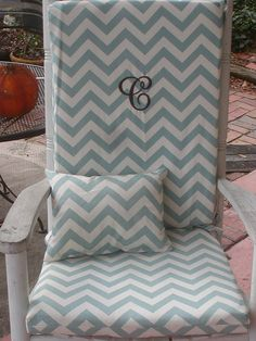Nursery Or Indoor Outdoor Custom Rocking Chair Cushions And Pillow. $85.00,  Via Etsy.
