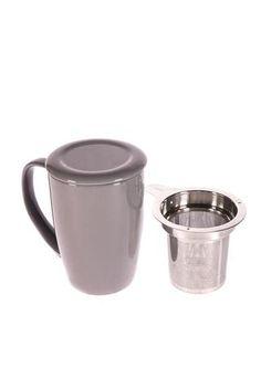 """Tasse """"For Life"""" de couleur grise"""