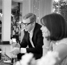 Michael Caine.With Natalie Wood, 1966.
