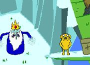 Hora de aventura Jake y Finn vs Ice King