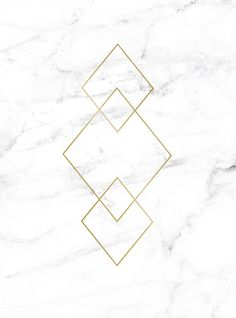 Print with gold on white marble.