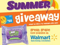 $50 Walmart Gift Card & Boogie Wipes Prize Pack Giveaway