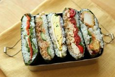 The latest Japanese fad involves a stuffed, roasted seaweed and rice sandwich called onigirazu. It is actually an old fad enjoying a comeback.