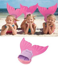 why, why did they not have these when I was a kid?  Do you know how many times I pretended to be a mermaid with crappy not joined flippers!??!!