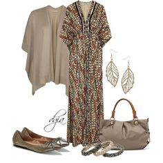 Maxi Dress for Fall!, created by dgia on Polyvore