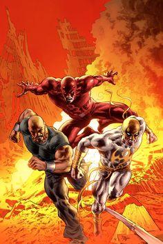 Luke Cage , Punho de Ferro e Demolidor !!!