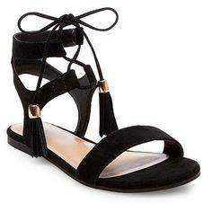 Women's Mavis Gladiator Sandals Merona - Black 9.5