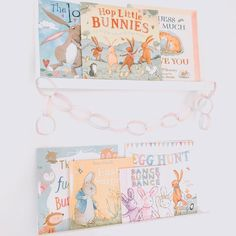 Easter/Spring 10 Cute and Easy Easter Treats to Make With Your Kids ---------------------- The furni Hanging Bookshelves, Bookshelves In Bedroom, Floating Bookshelves, Bookshelves Kids, Baby Easter Basket, Bookshelf Inspiration, Nursery Bookshelf, Spring Books, Kids Wood