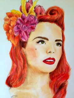 Paloma Faith Singer Portrait handdrawn and by ThePortraitPixie