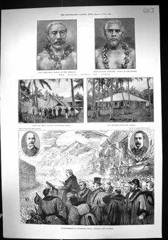 [1889 KINGS SAMOA TAMASSESSE MATAAFU MATIATOR CONSULATE STONE TUNBRIDGE WELLS]