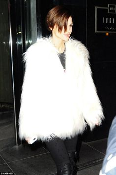 Ruby Rose stuns in a fluffy white coat in New York | Daily Mail Online