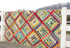 A Finished Scrappy Trip-Around-the-World Quilt! - Diary of a Quilter - a quilt blog