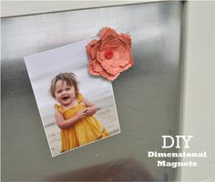 DIY Dimensional Magnets ~ I like the look of these...just cut the bottom layer out of paper and magnet, then assemble!