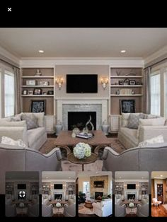 Off Center Fireplace, Country Living, The Hamptons, Family Room, Fireplaces, Bedroom, Country Life, Fireplace Set, Fire Places