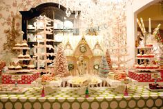 Holiday dessert table...gorgeous!